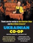 Thank you for voting Ukrainian CoOp for Best Butcher Shop and Best Ethnic Grocery!