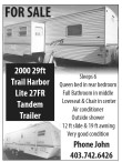200 29ft Trail Harbor Lite 27FR Tandem Trailer for Sale
