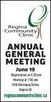 Regina Community Clinic  ANNUAL GENERAL MEETING