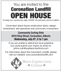 You are invited to the Coronation Landfill OPEN HOUSE