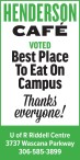 HENDERSON CAFE  VOTED Best Place To Eat On Campus