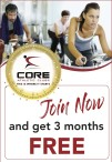 Join Core Athletic Clubs now and get 3 months FREE