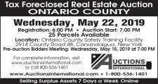 Tax Foreclosed Real Estate Auction in Ontario County