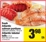 Fresh Atlantic salmon portions at Real Canadian Superstore