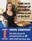 Thank you to Emma and all our staff for making Park Cafe one of the Best!