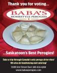 Thank you for voting... BABA'S HOMESTYLE PEROGIES ...Saskatoon's Best Perogies!
