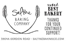 Saltine BAKING COMPANY  voted BEST BAKERY