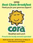 Cora VOTED Best Chain Breakfast