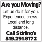Are you Moving?  Let us do it for you.