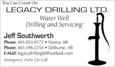 You Can Count On  LEGACY DRILLING