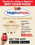Thanks for voting Western Pizza as Regina's BEST CHAIN PIZZA!