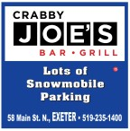 CRABBY JOE'S BAR - GRILL has  Lots of Snowmobile Parking
