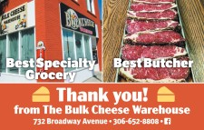 THANK YOU! FROM THE BULK CHEESE WAREHOUSE