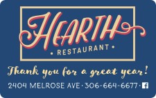 Thank you for a great year from HEARTH RESTAURANT