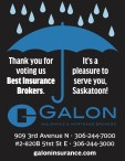 Thank you for voting Galon Insurance Best Insurance Brokers.