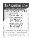 The Augustana Choir 2020 Concert Tour