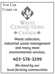 You Can Count on  WASTE CONNECTIONS OF CANADA