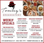 Tommy's SPEAKEATERY   WEEKLY SPECIALS