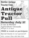 Antique Tractor Pull in Stettler