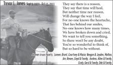 Remembering Trevor L. Jones