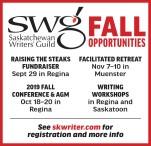 Saskatchewan Writers' Guild  FALL OPPORTUNITIES