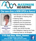 Maximum Hearing: Our new clinic is now open in Hanna!