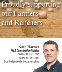 Nate Horner Proudly supporting our Farmers and Ranchers