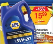 NAPA Premium Conventional Oil, 5L