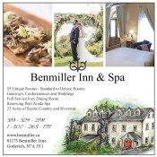 Getaways, Conferences and Weddings at Benmiller Inn & Spa