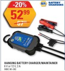 HANGING BATTERY CHARGER/MAINTAINER