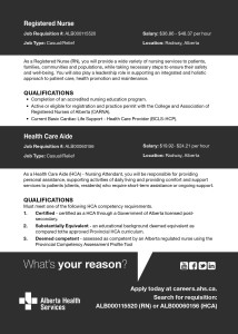 Registered Nurse And Health Care Aide Wanted