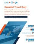 Saskatoon Transit Essential Travel Only