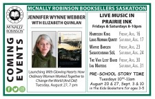 MCNALLY ROBINSON BOOKSELLERS SASKATOON COMING EVENTS