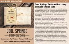 COOL SPRINGS GRASSFED BUTCHERY BUSINESS SPOTLIGHT