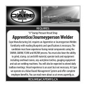 """U"" Stamp Pressure Vessel Shop Apprentice/Journeyperson Welder wanted"