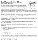 Chief Administrative Officer Employment Opportunity